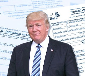 TRUMP PAID $750 IN US INCOME TAXES IN 2016, 2017