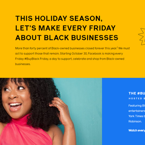 FACEBOOK LAUNCHES #BUYBLACK FRIDAY AND A SEASON OF SUPPORT FOR SMALL BUSINESSES