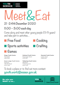 Meet & Eat at Greenlodge Clacton Youth Centre