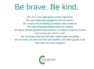 Be brave. Be kind. POSTER - Google Slide