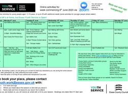 Essex Youth Online activities June 2020
