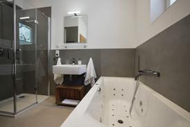 Bathroom with whirlpool bath