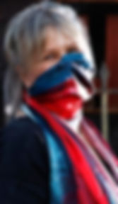 Helen Sutherland scarf ad for melbourne.