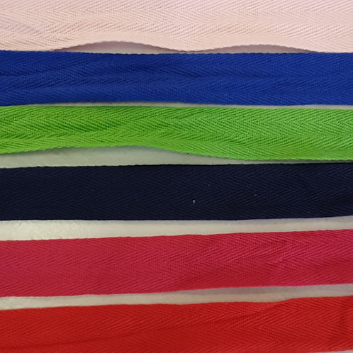 Cotton tape 25mm wide - Various colours