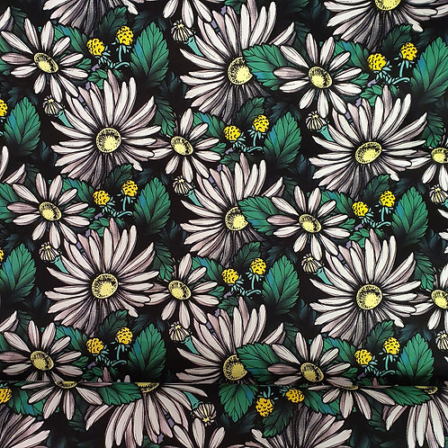Daisy Print Cotton with Stretch