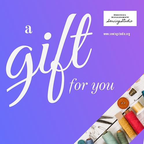 Sew gift voucher