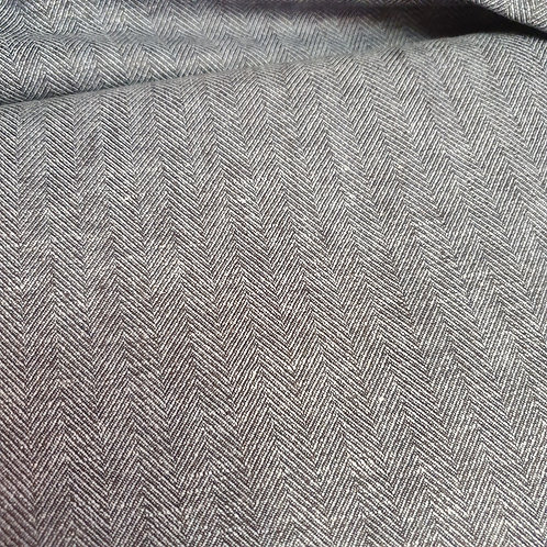 Blue Herringbone Suiting Fabric