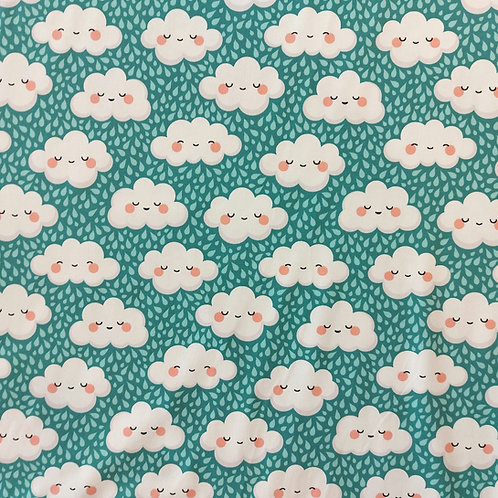 Happy clouds print jersey