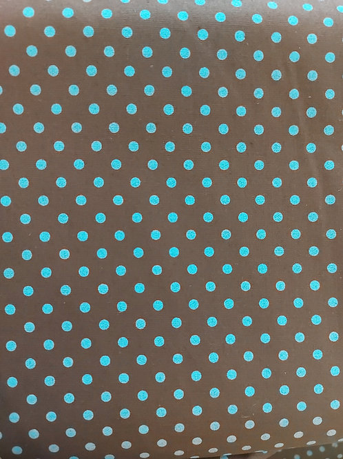 Teal polka stretch cotton