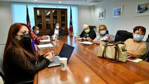 Comité Timón reunido con Eliezer Ramos Parés