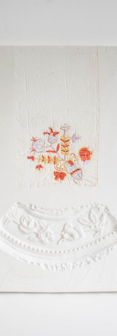 14. Albau II, 30x35cm, Fabric, Lace and