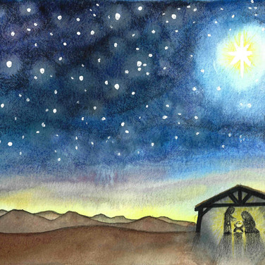 Starry Night Nativity