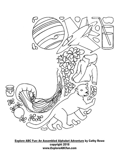 "Letter ""J"" coloring page"