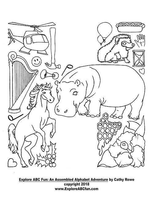 "Letter ""H"" Coloring Page"