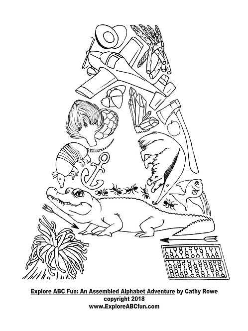 "Letter ""A"" coloring page"