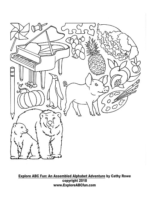 "Letter ""P"" coloring page"