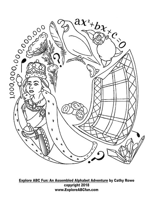 "Letter ""Q"" coloring page"