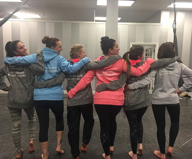 Aerial yoga girls rocking our new sweatshirts