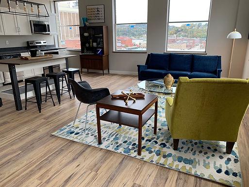 Charleston, WV Downtown Apartments Atlas Lofts Open Layout & Views