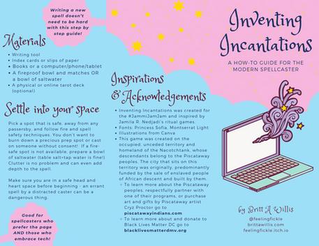 Game brochure - Inventing Incantations