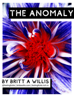 Game cover - The Anomaly