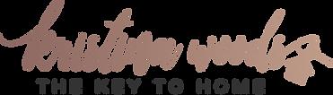 Kristina Woods Logo V1 Rose Gold (On Lig