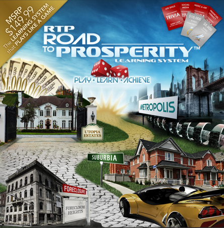 Road to Prosperity Game Box Design (Front)