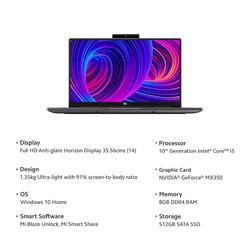 Mi Notebook Horizon Edition 14 Intel Core i5-10210U 10th Gen Thin and Light Laptop(8GB/512GB SSD/Win