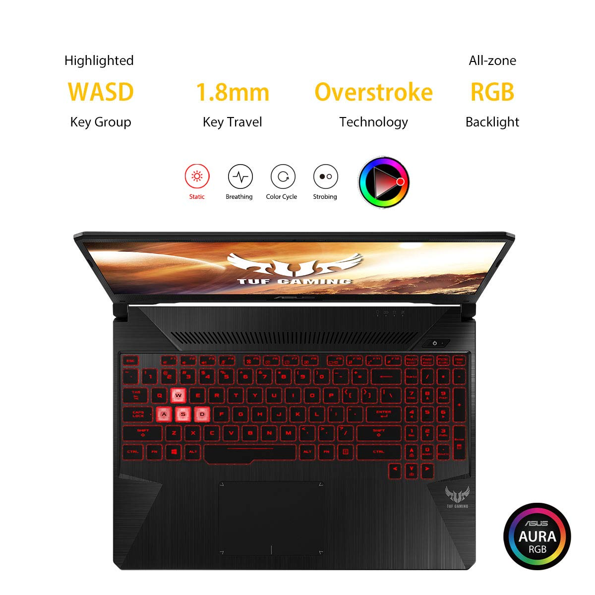 ASUS TUF Gaming FX505DT 15.6-inch FHD Laptop, Ryzen 5 3550H, GTX 1650 4GB GDDR5 Graphics (8GB RAM/1T