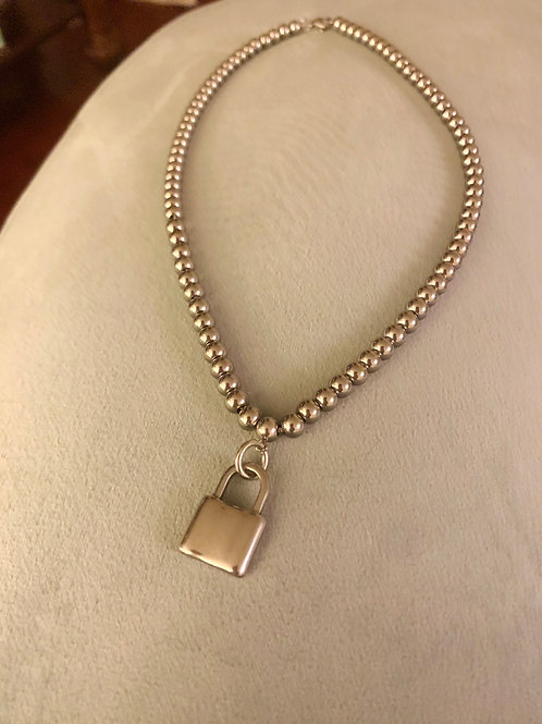 """18"""" Stainless Steel Bead Charm Necklace"""