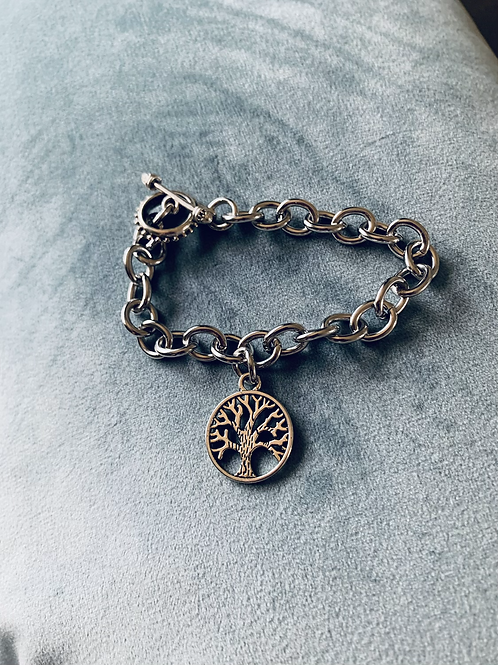 Tree of Life Cable Link Bracelet