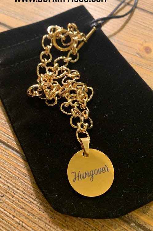 Hungover Gold Charm Necklace