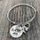 Thumbnail: Beaded Rib Stainless Steel Charm Bracelet