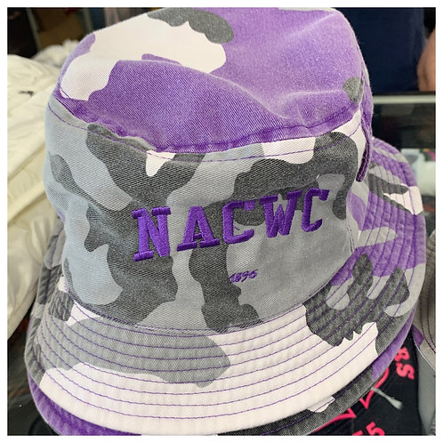 Bucket Hat Purple Embrodiery