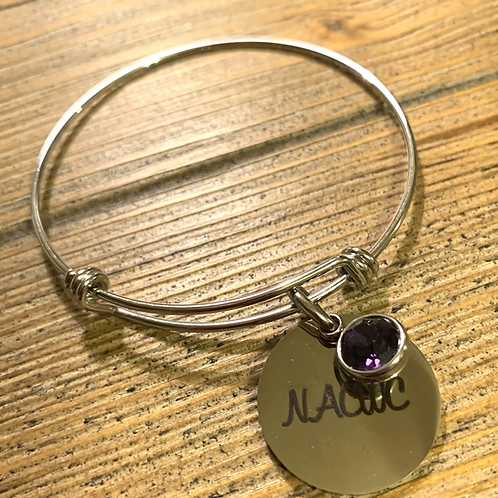 NACWC Stainless  Steel Expandable Bracelet/Charm