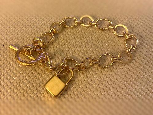 Silver or Gold Rhodium Charm Bracelet