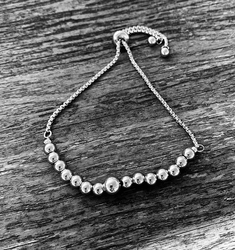 beaded flex bracelet
