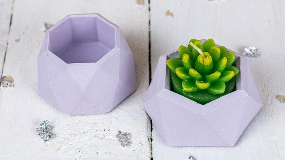 Pastel lilac mini planter set
