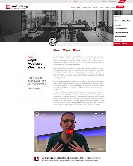 LawExchange International new website