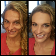 Bride's Before & After look