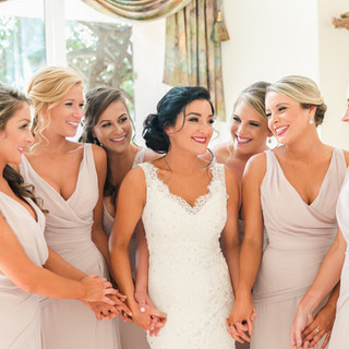 Steph with her bridesmaids.