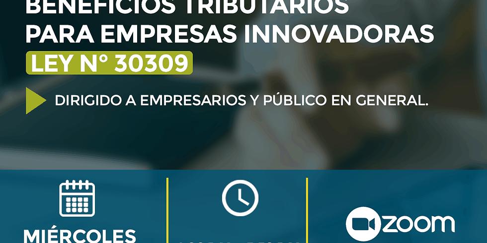 Charla: Beneficios Tributarios para Empresas Innovadoras