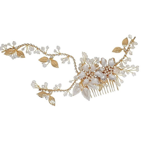 Alessia Gold Hand Wired Hair Comb / Vine RRP: £95.00