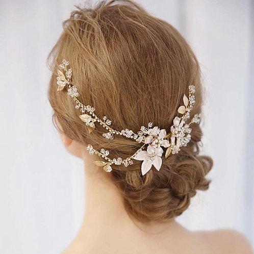 Cecilia Gold Hair Comb Vine RRP: £95.00