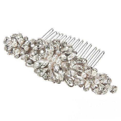 Victoria Silver Pearl Wedding Hair Comb RRP: £100