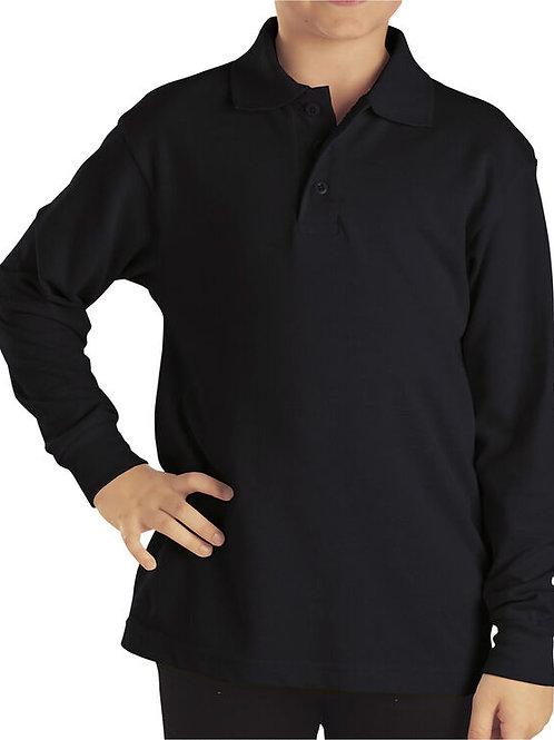 HFAA BLACK Polo Long Sleeve