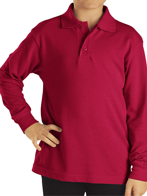 HFAA RED Polo Long Sleeve