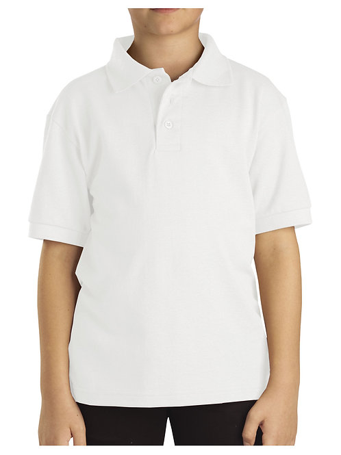 HFAA WHITE Polo Short Sleeve