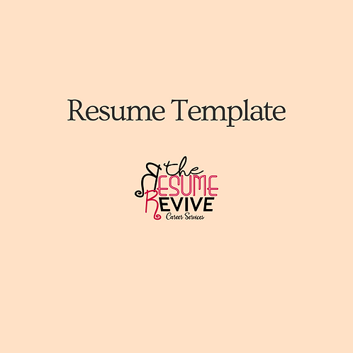 Basic Revive Template-Editable Microsoft Word (One Page) Template