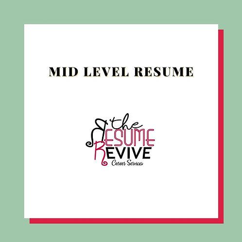 Mid Level Resume